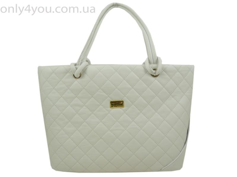 женская кожаная сумка Eterno : Eterno  df white
