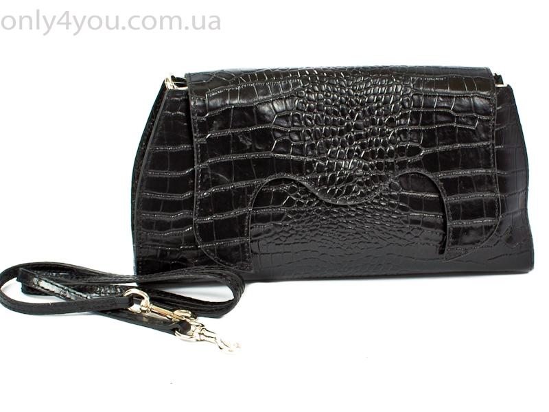 21b5debc2ffa Клатч женский кожаный через плечо (A169901-black) , купить клатч в Киеве,  Украине